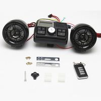 albabkc Waterproof 12V Motorcycle Bike FM Radio USB TF MP3 Player Anti-thief Stereo