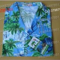 Free shipping Hainan shirt hainan island service male Women lovers casual cotton shirt 100% 0627 hawaii shirt 2XL 3XL
