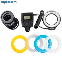 SPASH 48 pcs RF-550D Macro LED Ring Flash Light for NIKON Canon Sony DSLR Cameras