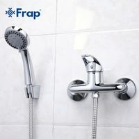 Frap 1 Set Simple Style Shower Faucet Bathroom Tap Cold Water Mixer Single Handle