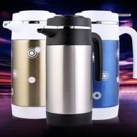 FUYOUSHENZHU Vehicle mounted thermos Stainless steel 12V kettle Electric heating cup