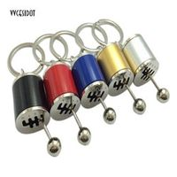 vvcesidot Keychain Gear Shift Knob Type Car Modified Key Ring Auto Metal Key Chain