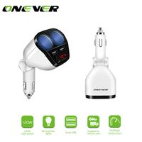 Onever 120W Dual USB Car Charger Cigarette Lighter Socket Splitter 5V/3.4A