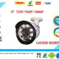 Luckertech Aluminum Metal Waterproof Outdoor Bullet IP POE Audio Camera 720/960/1080P CCTV 6PCS Array LED Board ONVIF Camera