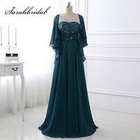 sarahbridal Women Elegant A-Line Dresses Half Length Sleeve
