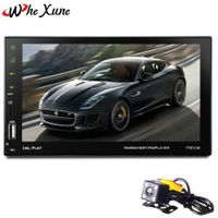 WHEXUNE 2 Din Car Radio Touch Screen 7 inch GPS Android mirror link hands