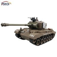 RC Tank US M26 15 Channel 1/20  Pershing Snow Leopard Main Battle Tank Model With Shoot Bullet