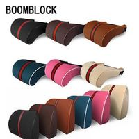 BOOMBLOCK Car Neck Head Pillows Seat Support Cushion Covers For Skoda Octavia A5 A7