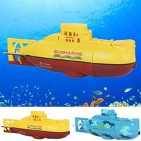 RC Boats 3311 Sea Wing Star 27MHz Radio Control Submarine Tourism Boat Toy Boys Gifts Yellow Blue
