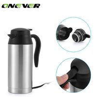 Onever 12 V 750 ml Auto Adapter Travel Thermos Stainless Steel Heating Kettle Coffee
