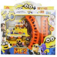 Pink /Yellow Colors Cute Movie Character Minions Figures Electric Train Track Kids Children Baby Toy 1511YHJ01622
