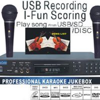 MIDI /DVD Karaoke Player/Recorder system with songs DVD/DviX/VCD Play from USB /SD