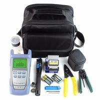 wholesale Fiber Optic FTTH Tool Kit with Fiber Cleaver and Optical Power Meter 5km Visual Fault Locator Wire stripper