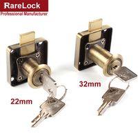 R Rarelock 22 32mm Drawer Lock Bronze Computer Keyed Different DIY Furniture Hardware