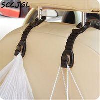 SCCJGL Delicate 2 Pcs Car Auto Fastener Clip Portable Seat Hanger Purse Bag Organizer