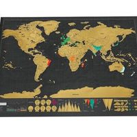 Deluxe Travel Edition Scratch Off World Map Poster Journal