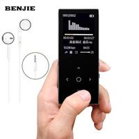 "Original BENJIE 8GB 1.8""Screen FLAC Hifi MP3 Player High Quality Lossless Audio MP3 Music Player FM Voice Recording Black"