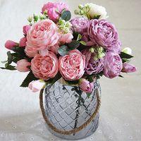 firlar 2018 Beautiful Rose Silk Flowers bouquet fake Flower