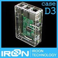 bpi D3: Raspberry PI 3 Transparent Case Cover Shell Enclosure Box for Raspberry PI