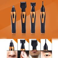 4 in 1 Rechargeable Nose Hair Trimmer Temples Repair Eyebrows Razor