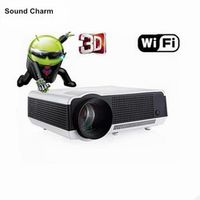 Sound charm Built-in Android 4.4 1080P Smart LED Full HD 3D Video Projector Wifi Home