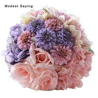modest saying Pack with Box Romantic Artificial Flowers