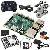 Raspberry Pi 3 Model B Bluetooth 4.1 1GB Wi-Fi 4 USB Ports Wireless Keyboard Case Fan