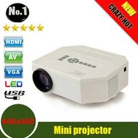 UNIC UC30 HD mini LED projector Native 640X480 Support HDMI / Three Glasses lenses/