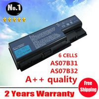 Wholesale New 6 cells laptop battery FOR Acer Aspire AS07B31 AS07B32  AS07B41   AS07B42  AS07B51  AS07B71   free shipping