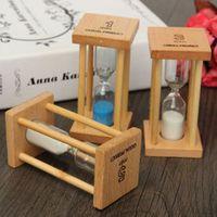 1/3/5Min Wooden Desktop Sand Clock Timers Sandglass