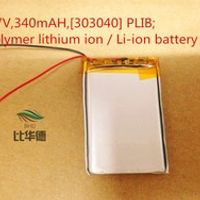 3.7V 340mAH 303040 PLIB polymer lithium ion / Li-ion battery for model aircraft GPS