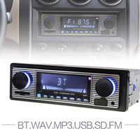 kinter 12V Bluetooth Auto Car Radio 1DIN Stereo Audio MP3 Player FM Receiver Support