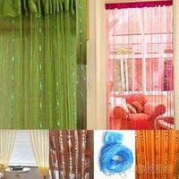 Hot Sale Teardrop Beaded String Door Curtain Fly Screen Divider Room Window Decor DIY Blind Tassel Drape 7JY5