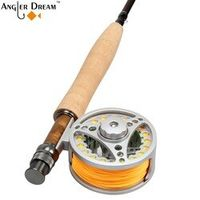 Angler Dream Combo 5WT 9FT Carbon Fiber Fishing Rod 5/6WT Large Arbor Reel Fly Line