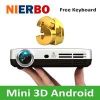 NIERBO Mini 3D 1080P Full HD DLP Smart Android Wireless Multimedia Video Projector