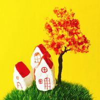 fovol 12Pcs/ orange artificial tree/miniatures/cute