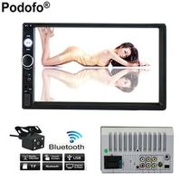"Podofo 2 Din Car MP5 Player 7"" HD Touch Screen Monitor Multimedia"