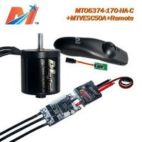 Maytech 6374 Closed Cover motor and mini remote and vesc controler for electric Mountain board