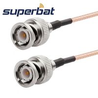 Superbat SMA male plug straight BNC plugright angle Pigtail cable RG316 100cm
