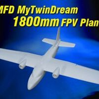 TAROT-RC MyTwinDream EPO Foam Flying MFD 1800mm Wingspan 1.8m RC Fixed wing UAV 1.8 m