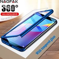 NAGFAK luxury 360 full cover phone case case for huawei y6 prime 2018 y5 y7 case with