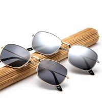 Harajuku fashion sunglasses retro box metal sunglasses sunglasses glasses men's art personality trend