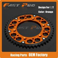 52T Rear Sprocket For KTM EXC MXC EXCF SXF XCF XCW XCFW LC4 MX 250 300 350 360 380 400 450 600 Enduro Motocross Six Days Racing