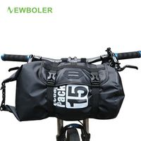 NEWBOLER Bike Front Tube Bag Waterproof Handlebar Basket Pack Cycling Frame Pannier
