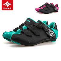 Santic Cycling Shoes TPU Wearable Road Bike Shoes Men Women PRO Racing Team