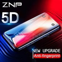 ZNP 5D Curved Premium Tempered Glass 8 7 6 6s Plus Full Cover Screen Protector Film