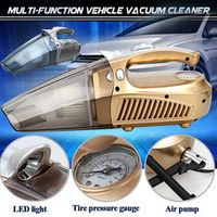 Ai CAR FUN 12V High-Power Vacuum Cleaner With LED Lights Hand-Held Inflatable Pump