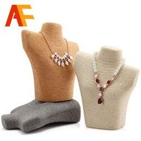 Necklace Busts 11.22*10.23inch Measure  Mannequin Jewelry Display Stand Necklace Pendant Holder Model Bust Showcase Exhibitor