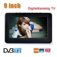 CARSOLJ HD 9 Inch Digital Analog Television Receiver TF Card USB Audio Video Playback
