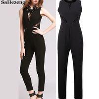 SaHezeng Elegant Lace Jumpsuits Romper Sleeveless Women